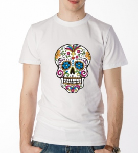 «Skull With Flowers»